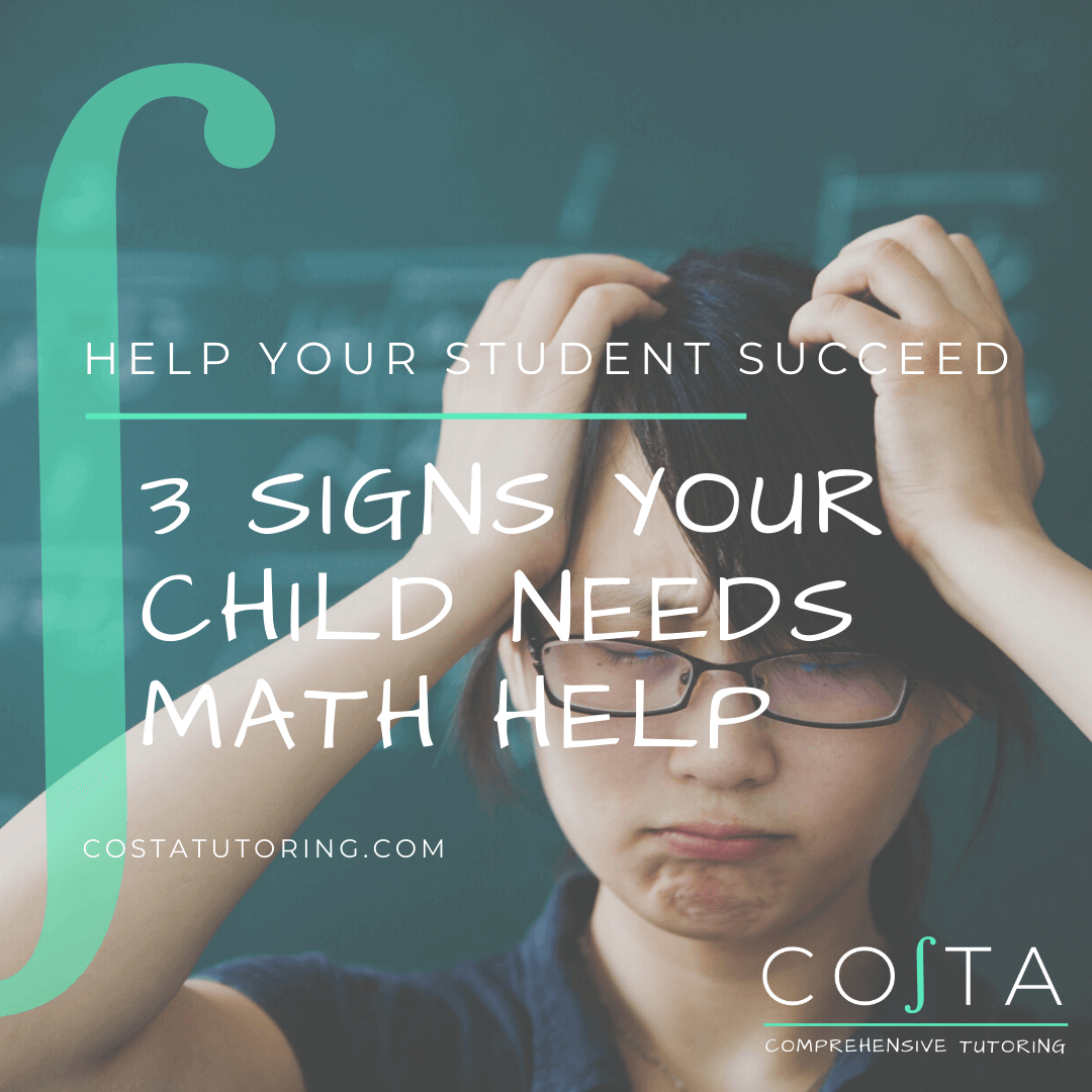 Help your student succeed and continue reading about how to recognize the signs for students who need extra support with math!